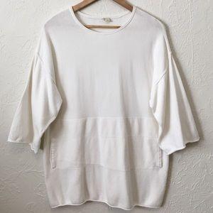 Eileen Fisher White Sweater Shirt